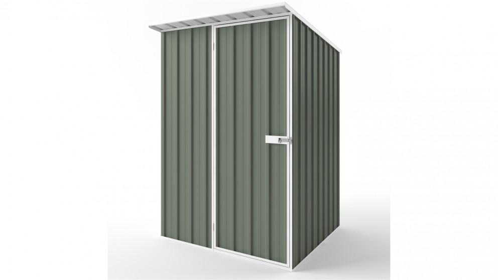 EasyShed S1515 Skillion Roof Garden Shed - Mist Green