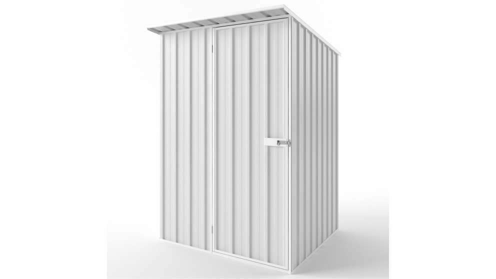 EasyShed S1515 Skillion Roof Garden Shed - Off White