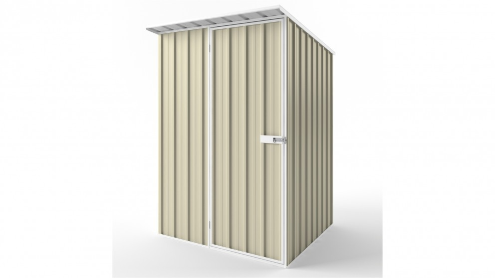 EasyShed S1515 Skillion Roof Garden Shed - Smooth Cream