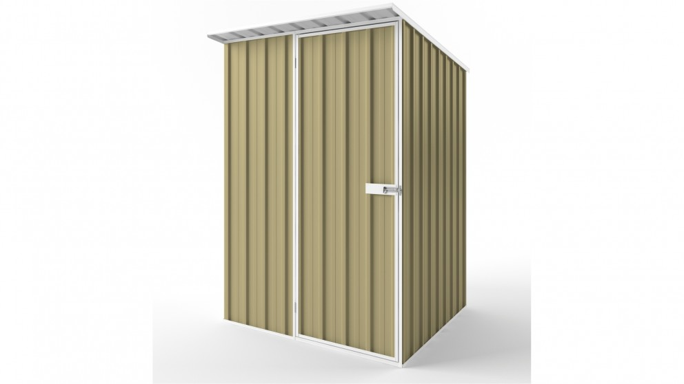 EasyShed S1515 Skillion Roof Garden Shed - Sandalwood