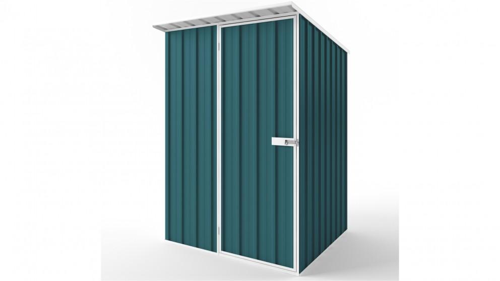 EasyShed S1515 Skillion Roof Garden Shed - Torres Blue