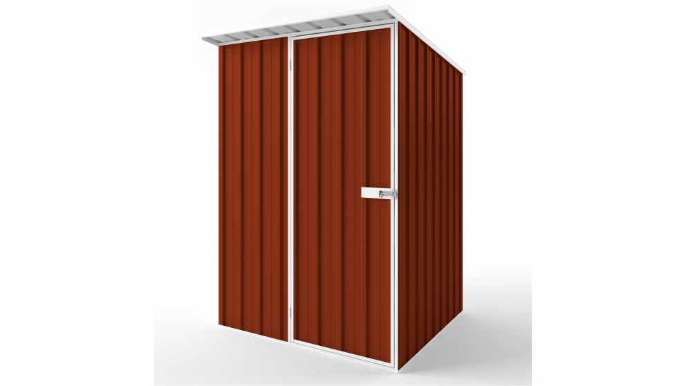 EasyShed S1515 Skillion Roof Garden Shed - Tuscan Red