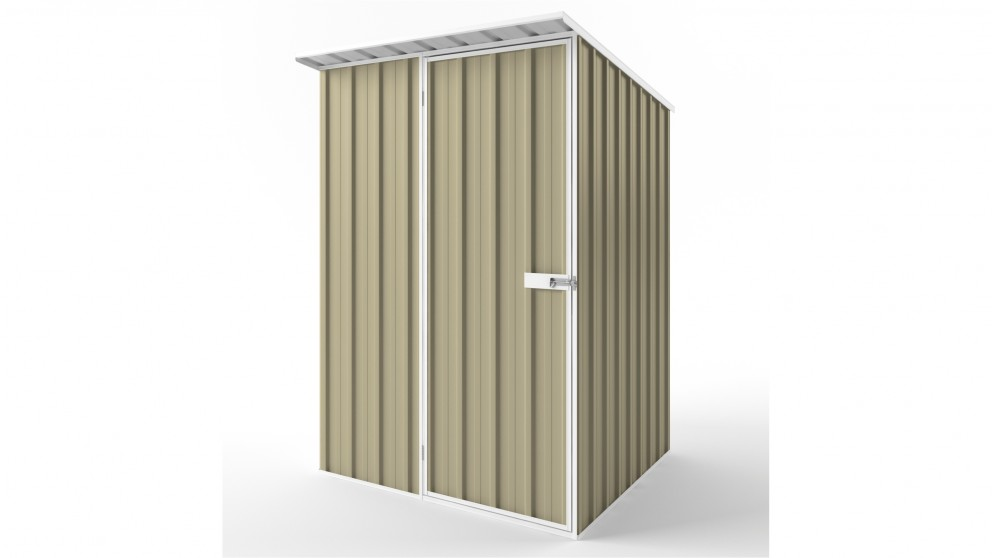 EasyShed S1515 Skillion Roof Garden Shed - Wheat