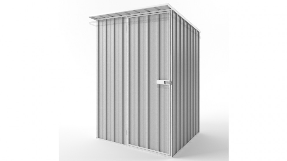 EasyShed S1515 Skillion Roof Garden Shed - Zincalume