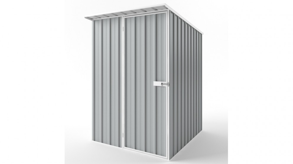 EasyShed S1519 Skillion Roof Garden Shed - Gull Grey