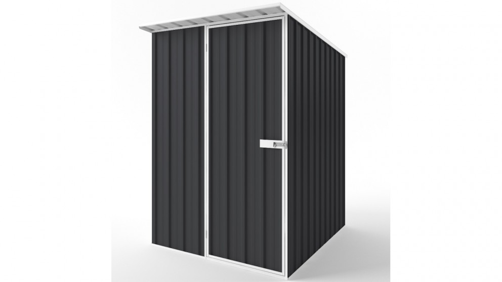 EasyShed S1519 Skillion Roof Garden Shed - Iron Grey