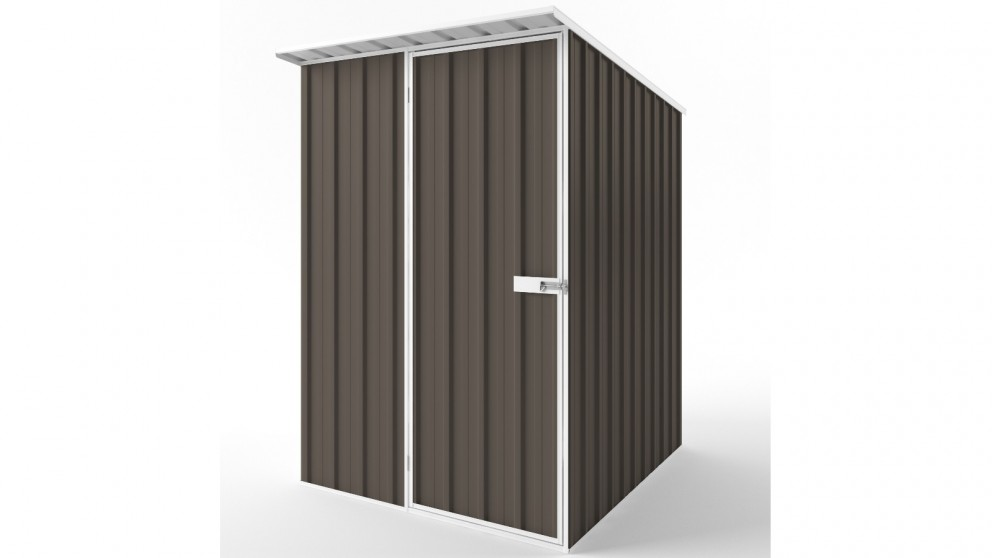 EasyShed S1519 Skillion Roof Garden Shed - Jasmine Brown