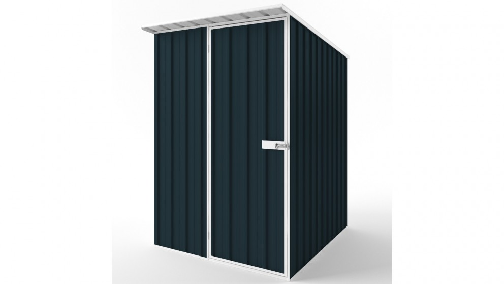 EasyShed S1519 Skillion Roof Garden Shed - Mountain Blue