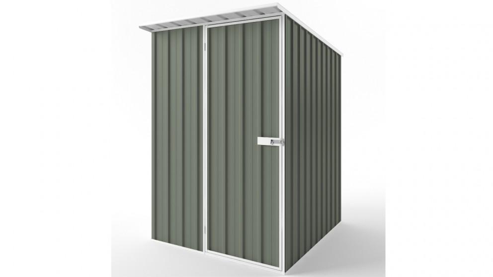 EasyShed S1519 Skillion Roof Garden Shed - Mist Green