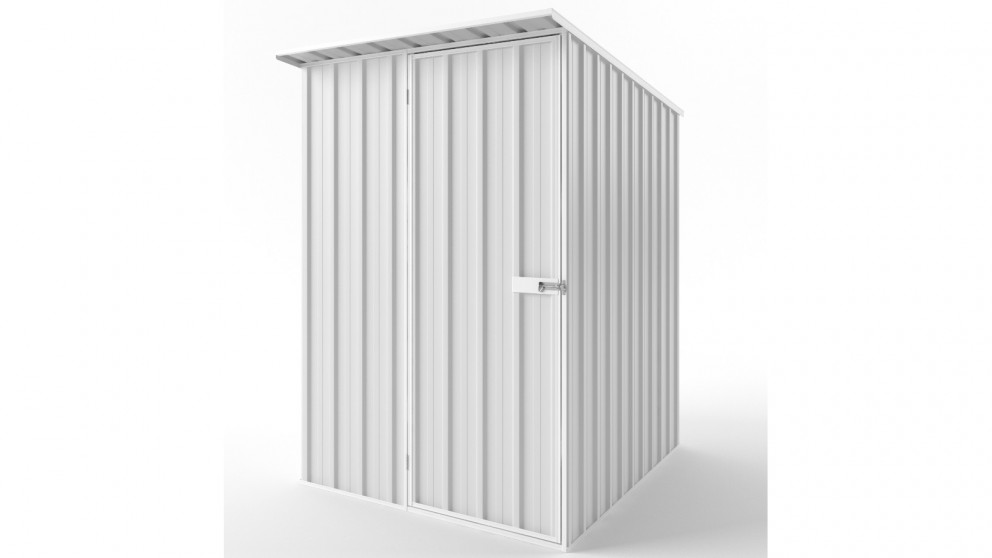 EasyShed S1519 Skillion Roof Garden Shed - Off White