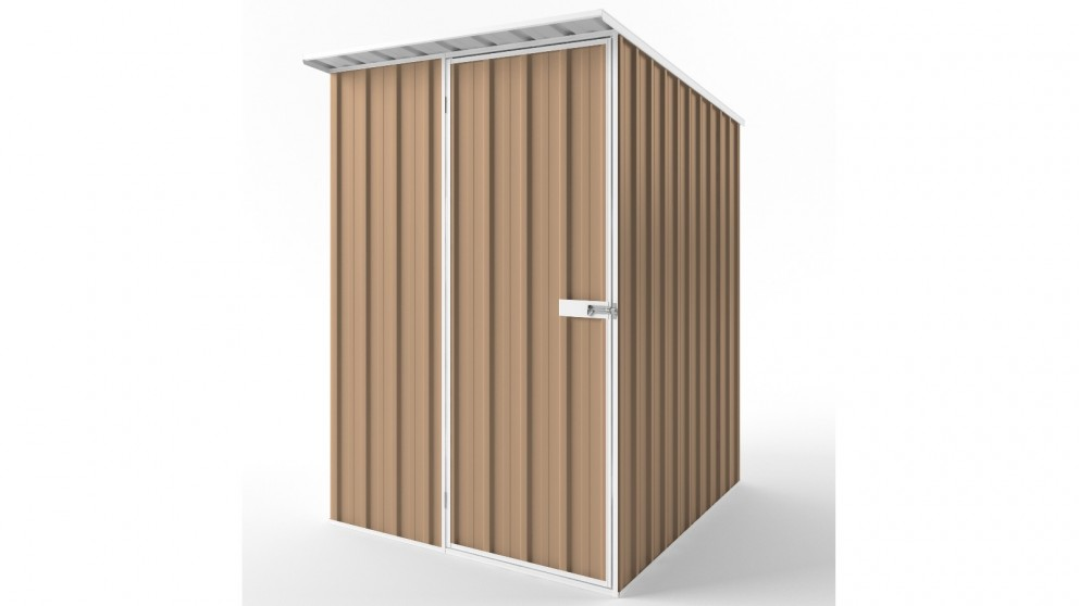 EasyShed S1519 Skillion Roof Garden Shed - Pale Terracotta