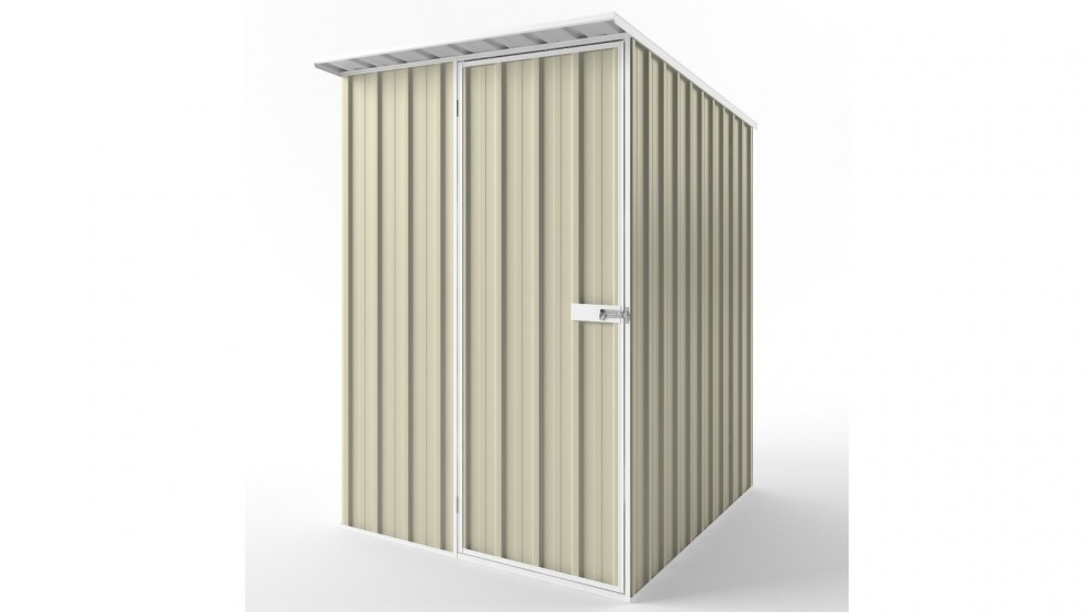 EasyShed S1519 Skillion Roof Garden Shed - Smooth Cream