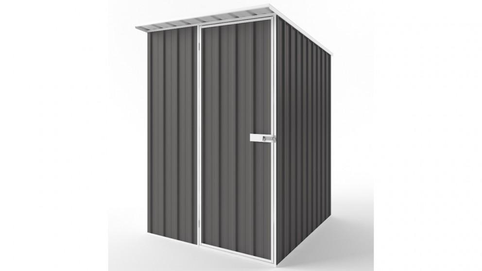 EasyShed S1519 Skillion Roof Garden Shed - Slate Grey