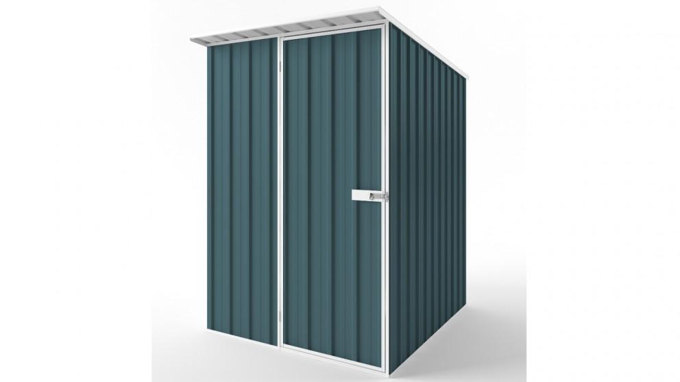 EasyShed S1519 Skillion Roof Garden Shed - Torres Blue