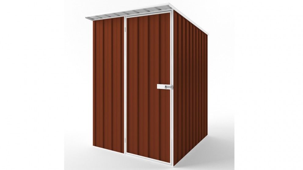 EasyShed S1519 Skillion Roof Garden Shed - Tuscan Red