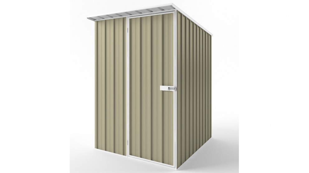EasyShed S1519 Skillion Roof Garden Shed - Wheat