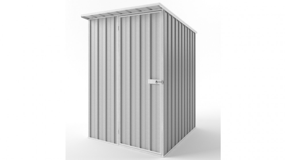 EasyShed S1519 Skillion Roof Garden Shed - Zincalume