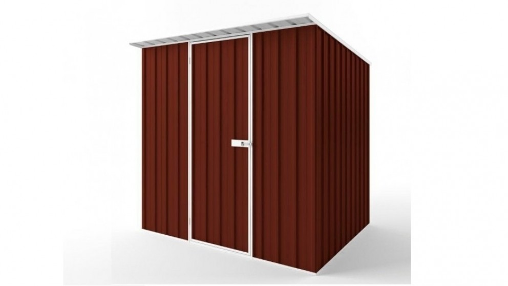 EasyShed S2319 Skillion Roof Garden Shed - Heritage Red