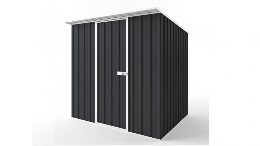 EasyShed S2319 Skillion Roof Garden Shed - Iron Grey