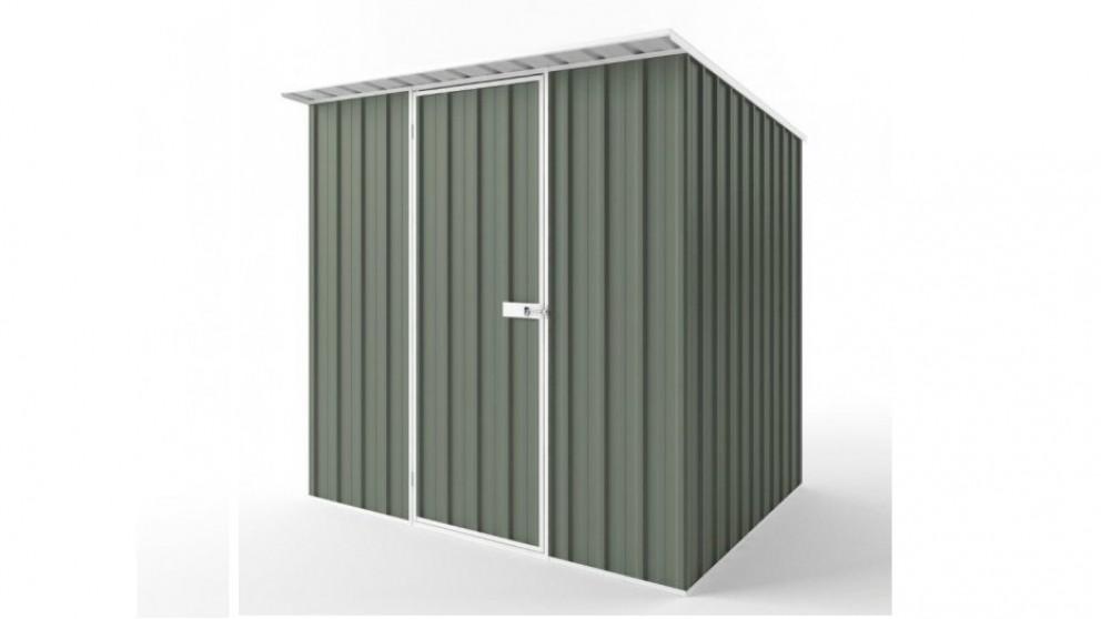 EasyShed S2319 Skillion Roof Garden Shed - Mist Green