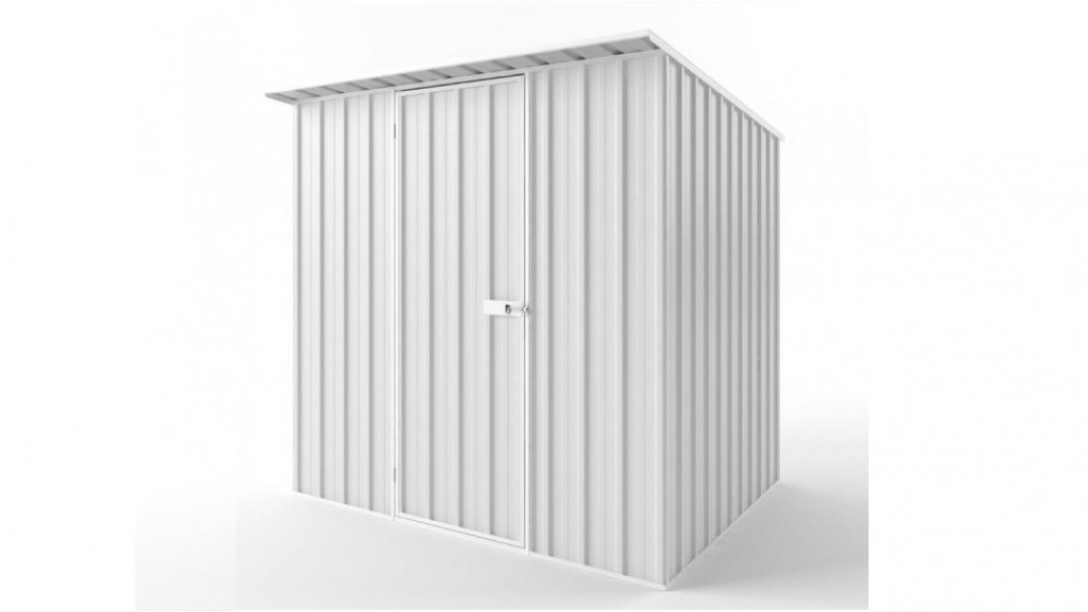 EasyShed S2319 Skillion Roof Garden Shed - Off White