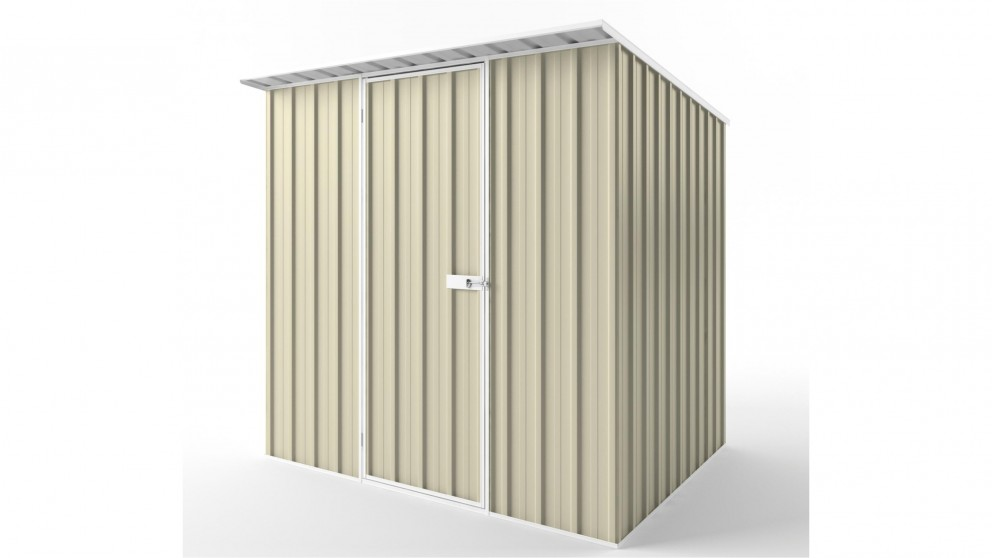 EasyShed S2319 Skillion Roof Garden Shed - Smooth Cream