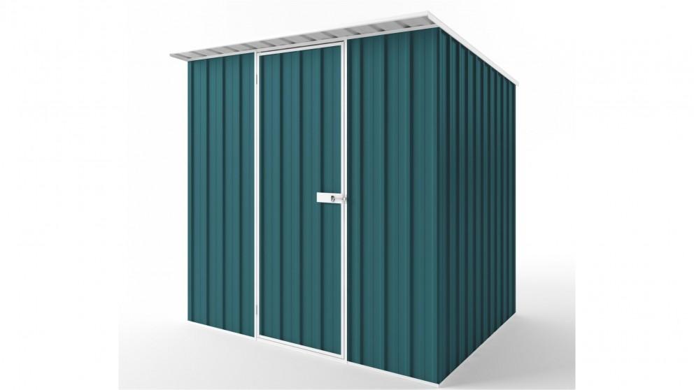 EasyShed S2319 Skillion Roof Garden Shed - Torres Blue