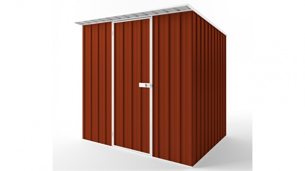 EasyShed S2319 Skillion Roof Garden Shed - Tuscan Red