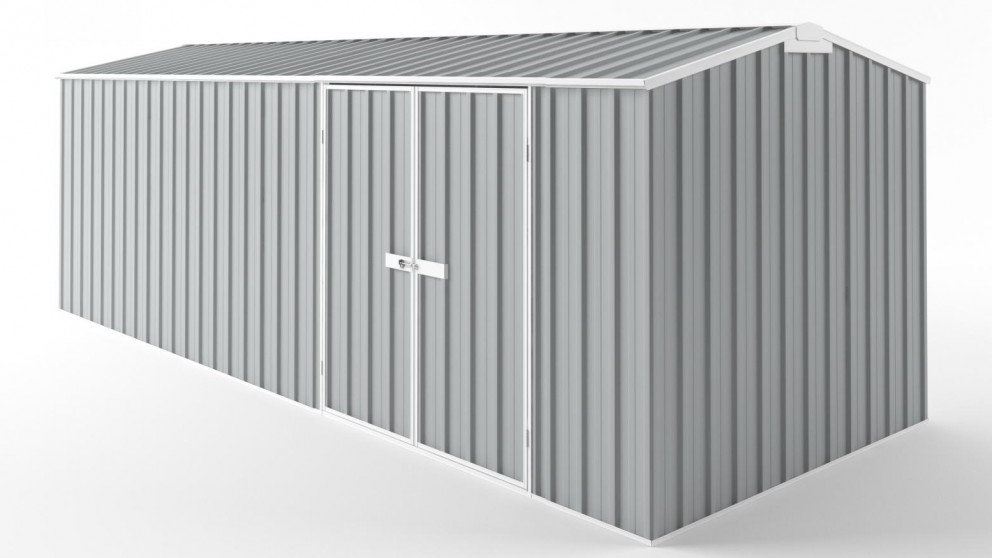 EasyShed D6023 Truss Roof Garden Shed - Gull Grey