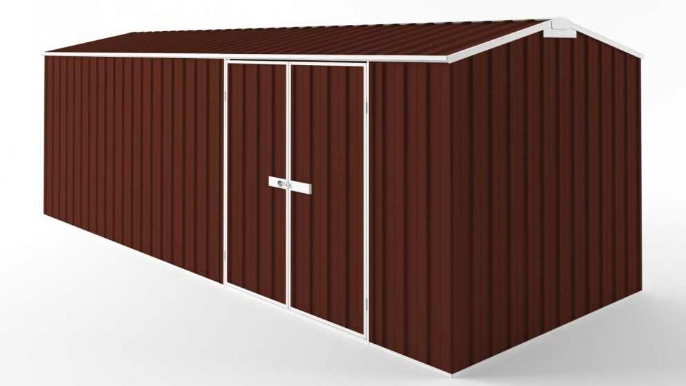 EasyShed D6023 Truss Roof Garden Shed - Heritage Red