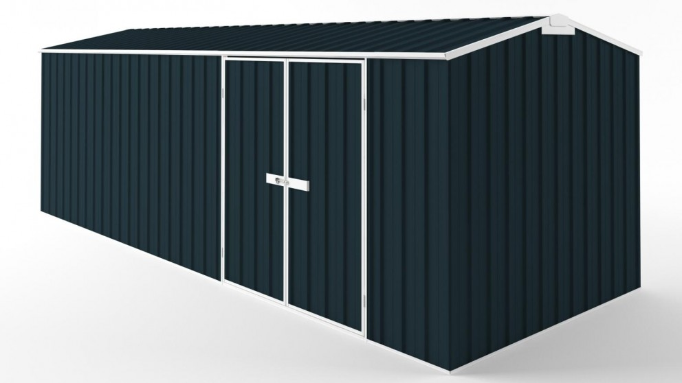 EasyShed D6023 Truss Roof Garden Shed - Mountain Blue