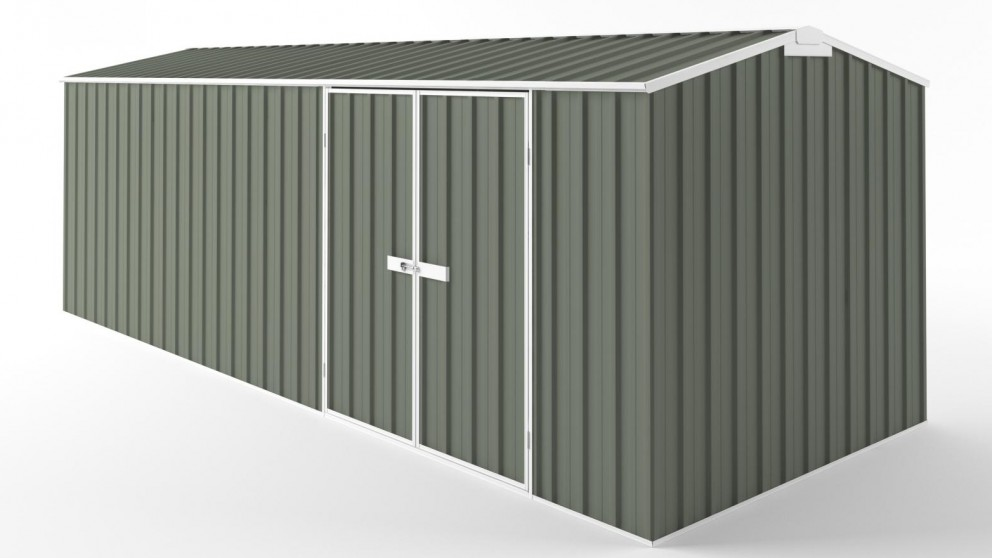 EasyShed D6023 Truss Roof Garden Shed - Mist Green