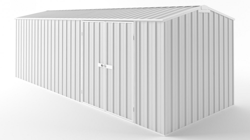 EasyShed D6023 Truss Roof Garden Shed - Off White