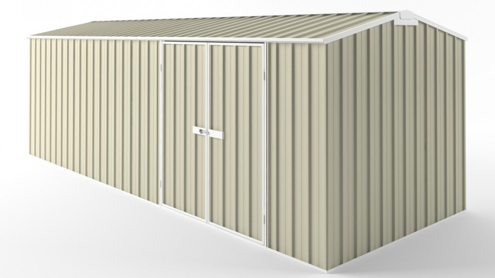EasyShed D6023 Truss Roof Garden Shed - Smooth Cream