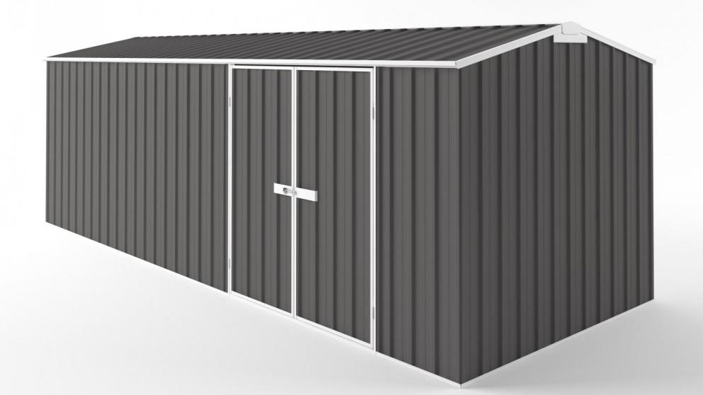 EasyShed D6023 Truss Roof Garden Shed - Slate Grey