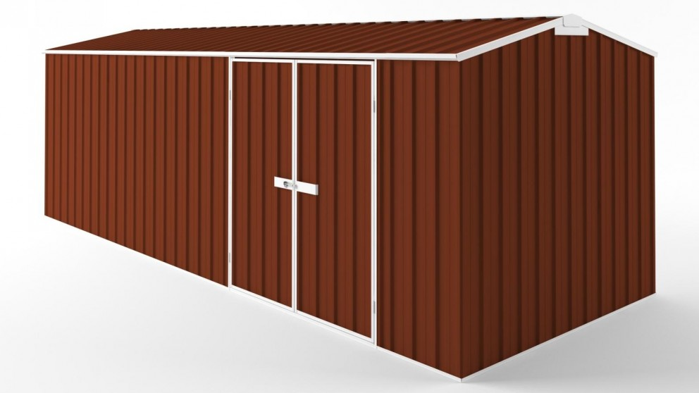 EasyShed D6023 Truss Roof Garden Shed - Tuscan Red