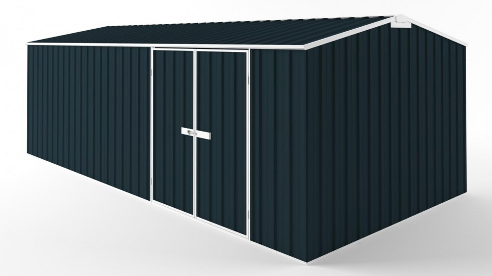 EasyShed D6030 Truss Roof Garden Shed - Mountain Blue