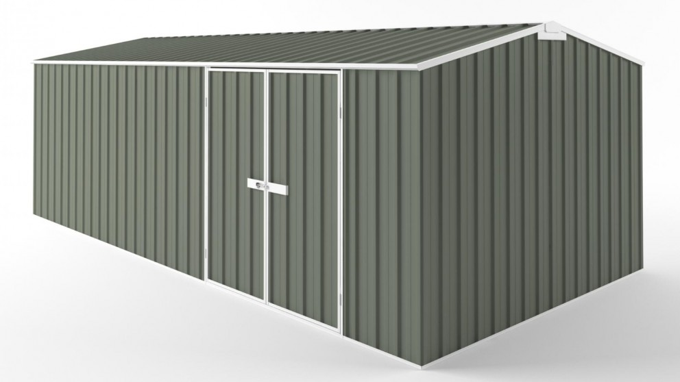 EasyShed D6030 Truss Roof Garden Shed - Mist Green