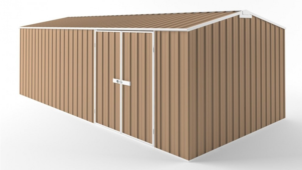EasyShed D6030 Truss Roof Garden Shed - Pale Terracotta