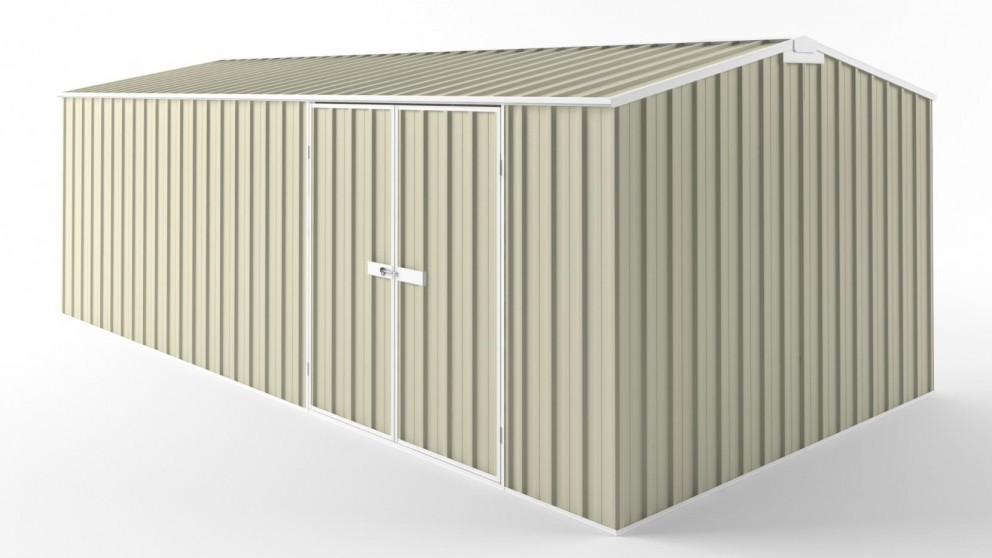 EasyShed D6030 Truss Roof Garden Shed - Smooth Cream