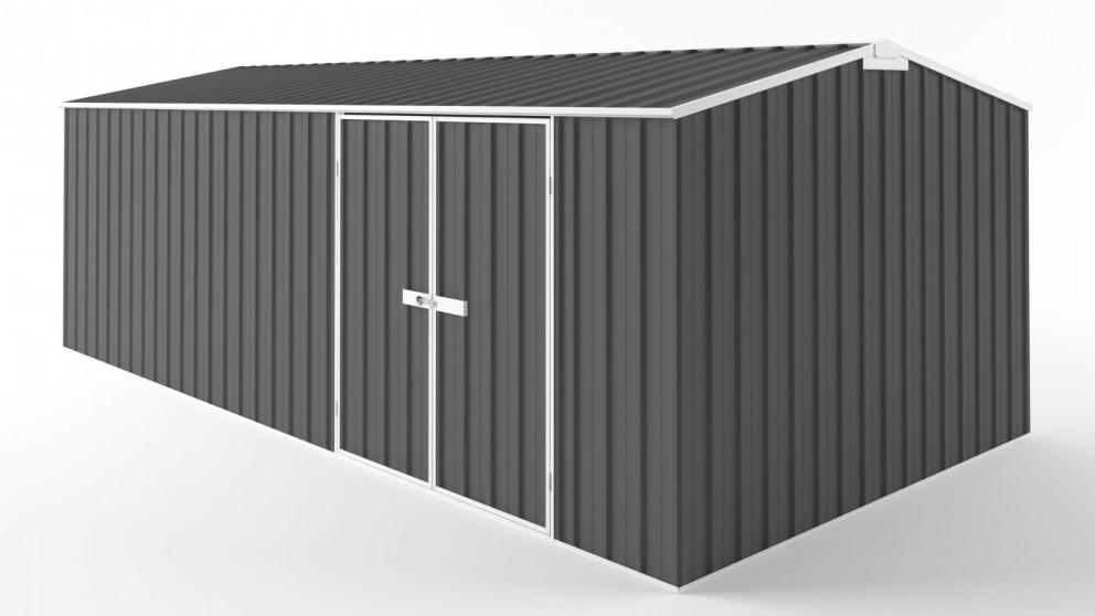 EasyShed D6030 Truss Roof Garden Shed - Slate Grey