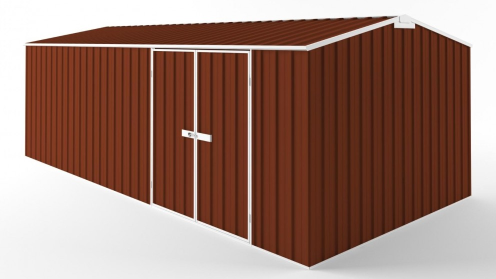 EasyShed D6030 Truss Roof Garden Shed - Tuscan Red