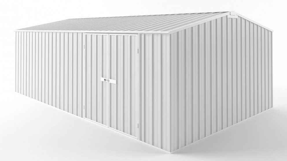 EasyShed D6038 Truss Roof Garden Shed - Off White