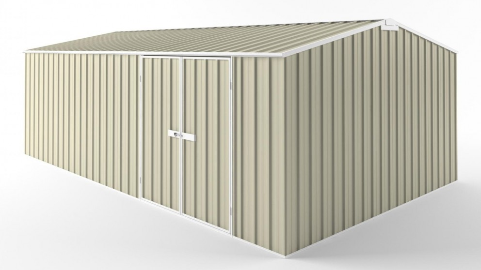 EasyShed D6038 Truss Roof Garden Shed - Smooth Cream