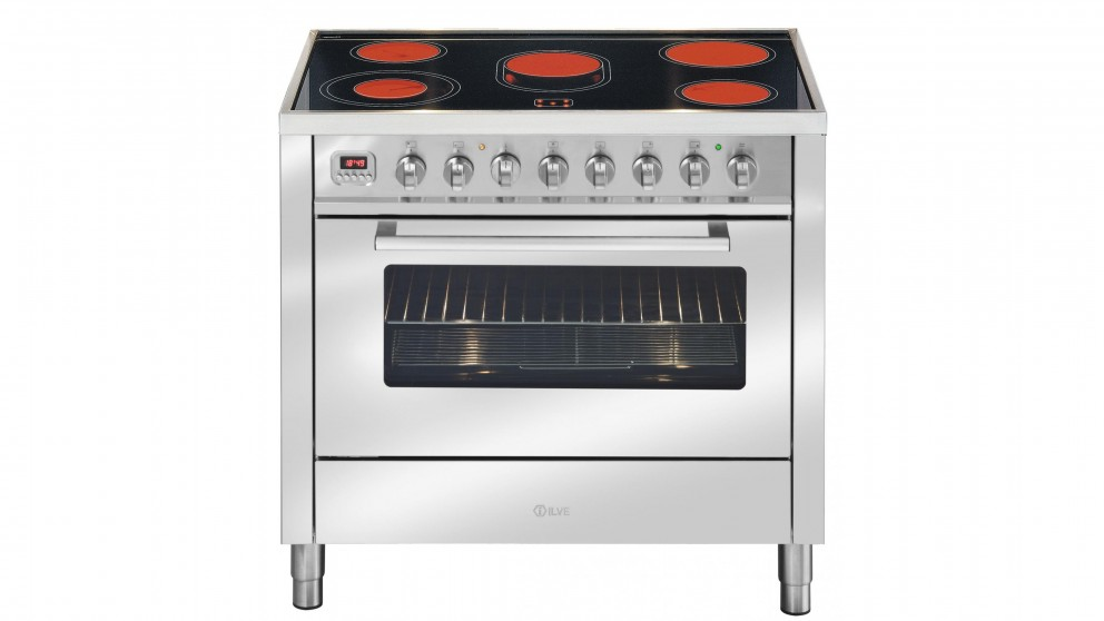 ILVE 900mm Ceramic Electric Freestanding Cooker - Stainless Steel