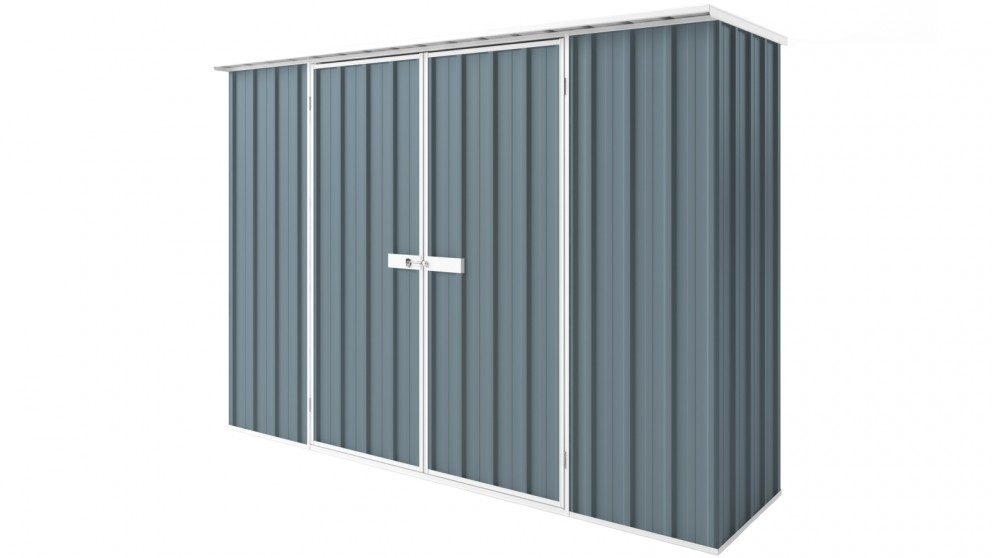 EasyShed D3008 Tall Flat Roof Garden Shed - Blue Horizon