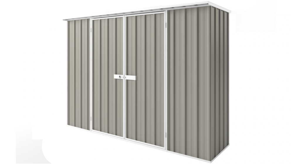 EasyShed D3008 Tall Flat Roof Garden Shed - Birch