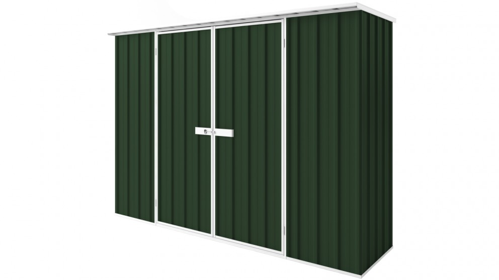 EasyShed D3008 Tall Flat Roof Garden Shed - Caulfield Green