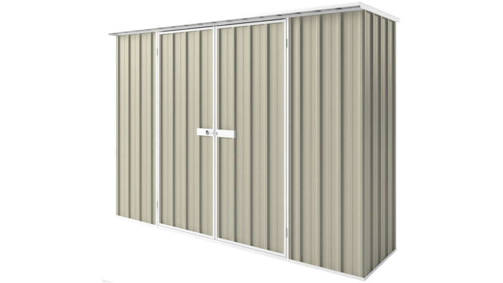 EasyShed D3008 Tall Flat Roof Garden Shed - Merino