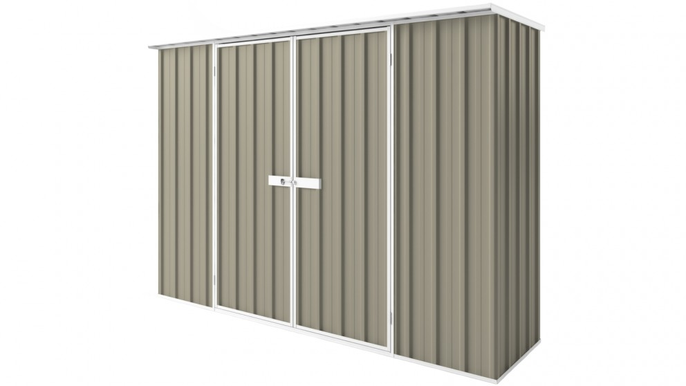 EasyShed D3008 Tall Flat Roof Garden Shed - Stone